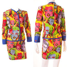 Iconic Vintage Gianni Versace S/S 1991 Warhol Monroe Print Suit