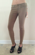 True Religion Jeans Skinny CASEY STRETCH SUEDE Lamb Leather Size 26