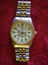 "Vintage Suntime military engraved date watch ""This we'll defend"" post 23 ""READ"""