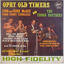 OPRY OLD TIMERS: Sam & Kirk McGee, Crook Brothers STARDAY USA Orig Bluegrass LP