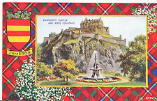 Scotland Postcard - Cameron -  Edinburgh Castle and Ross Mountain    DP226