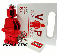 LEGO VIP VALENTINES DAY 2013 RED CHROME KEYRING  MINIFIGURE BRAND NEW