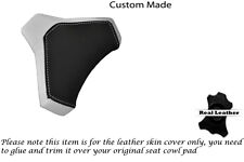 BLACK & WHITE CUSTOM FITS DUCATI 848 1098 1198 SEAT COWL PAD COVER