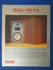 AKAI SW-121A SPEAKERS SALES BROCHURE ORIGINAL FACTORY ISSUE THE REAL THING
