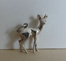 62  VINTAGE SILVER CHARM BAMBI TYPE DEER