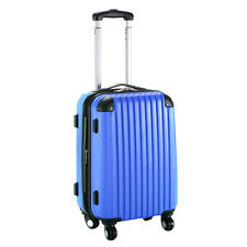"""GLOBALWAY 20"""" Expandable ABS Carry On Luggage Travel Bag Trolley Suitcase Navy"""