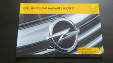 NEU Opel Serviceheft Service & Warranty Booklet 2013 Corsa Astra Insignia Mokka
