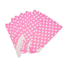 6 Popcorn  BOXES Polka Dots Spots - Birthday Party Favour Loot Paper Bags  MWUK
