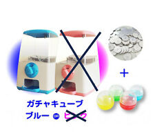 GACHA CUBE Blue gacha gacha  gashapon machine set with 50 medals and capsules