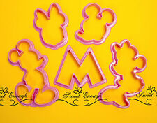 Mickey & Minnie Mouse Cortador De Galletas de émbolo Sugarcraft Pastel Decoración