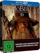 DER HOBBIT: Eine unerwartete Reise (Blu-ray 3D, Steelbook) 4 Discs NEU+OVP