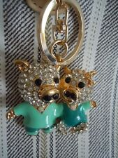 FABULOUS & STUNNING PRETTY PIG SWEET HEART COUPLES / LOVERS BLING KEY CHAIN L5