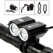 SolarStorm 5000Lm 2x  XM-L U2 LED Bike Light Phare Lampe Frontale Tactique