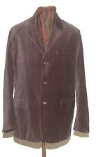 NYNE SMOKING VELVET BLAZER JACKET M THREE BUTTONS GREY