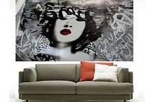 200cm japan girl  Geisha street art graffiti contemporary canvas painting large