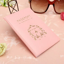 PVC Pink Travel Utility Passport Cover Holder ID Card  Case Protector Skin