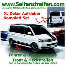 VW Bus T4 T5 XL Seitenstreifen Haube Heck Aufkleber Dekor Set - Art.Nr.: 2718