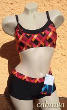 Aktueller sportlicher Bustier-Bikini Gr. 38 von NATURANA! NEU! Schwarz, rot!