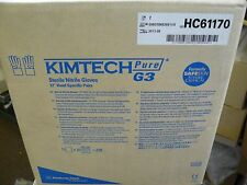 """NEW KIMTECH HC61170 PURE G3 STERILE NITRILE GLOVES 12"""" HAND SPECIFIC SIZE 7"""