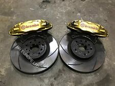 SUBARU IMPREZA FRONT 4 POT BREMBO BRAKE CALIPERS DISKS WRX STI 22B P1 JDM TURBO