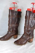 FIORENTINI+ BAKER WOMEN BELTED RIDING BOOTS EU 41  US11 .MADE ITALY