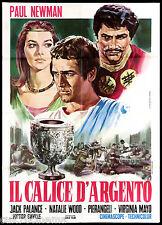 IL CALICE D'ARGENTO MANIFESTO CINEMA PAUL NEWMAN 1954 SILVER CHALICE POSTER 2F