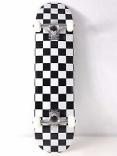 "Blank Checker White Complete 8.0"" Skateboard  Deck +  5.0 Trucks + 52mm Wheels"