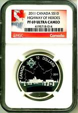 2011 S$10 Canada Highway Of Heroes NGC PF69 Ultra Cameo With Mint Box & COA OGP
