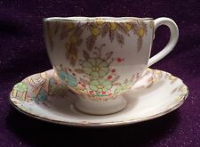 Royal Radfords Fenton Bone China Made in England Flower/Floral Tea Cup & Saucer