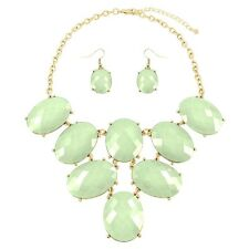 Gold and Mint Necklace Set