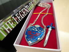 Legend of Zelda Skyward Sword Hyrule Hylian Shield Metal Necklace pendant + BOX