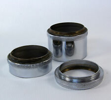 Set of 3 Vintage Handmade Brass/Nickel Macro Extension Tube Rings for Lens M42