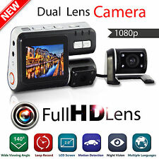HD 1080P Dual Lens Car Vehicle DVR Camera Dashboard Video Record G Sensor Cam