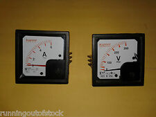 Combo of Panel Analog Voltmeter 0-300V and Ammeter 0-6/10 AMP