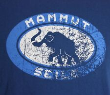 2XL Mammut Blue T-Shirt Mammoth Hike Climb Camp Ski