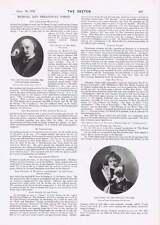 1901 Musical Theatrical Gossip Miss Eileen Concannen Late Sir John Stainer