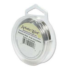 Artistic Wire Stainless Steel 24 Gauge 20 yards 41892 Round Shiny