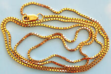 New 14K Solid Gold 24 Inch 1.1 millimeters  Necklace / Box chain weights 5.14 g