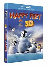 """Happy Feet 2"" - Blu-Ray - Versions 2D et 3D Active -NEUF SOUS BLISTER"