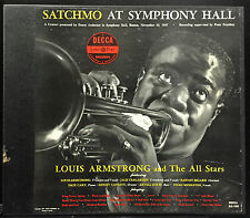 Louis Armstrong Satchmo At Symphony Hall 2 LP Box 1951 US Mono DX-108 Complete