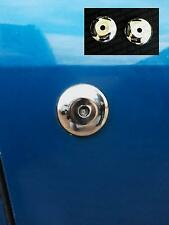 TWO NEW Ford KA SportKA Fiesta Mk3 RS Turbo XR2i Stainless Steel Door Lock Cover