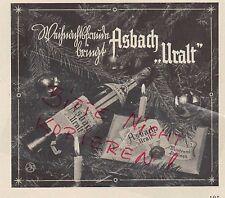 RÜDESHEIM, Werbung 1936, Hugo Asbach  Weinbrand Asbach Uralt deutscher Cognac