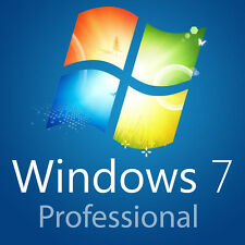 Windows 7 Professional SP1 64 bit full install DVD with license +Tech Help Sheet