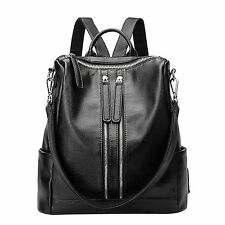Backpack Korean Fashion Women Shoulder Bag Genuine Leather Dual-use Daypack