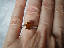 Maderia Citrine ring, size N/O, 1.05 carats, in 2.1 grams of 925 Sterling Silver
