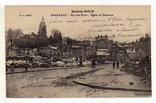 A1044) FRANCE 1918 PC  Baccarat - Guerre 1914-18