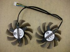 New MSI GTX 460 580 R6870 R6950 Twin Frozr II Dual Cooler Fan PLD08010S12HH 75mm