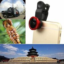 Universal 3in1 Clip On Camera Lens 180°Fisheye+Wide Angle+Macro For Cell Phones