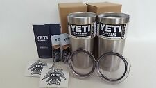 TWO Yeti 20 oz Stainless Steel Rambler Tumbler Insulated Cups Set of 2 Original