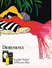 PUBLICITE ADVERTISING 045  1979  DIOR  par RENE GRUAU  DIORESSENCE  pour femme